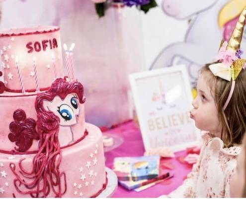 unicorn & pinky pie birthday party Lugano